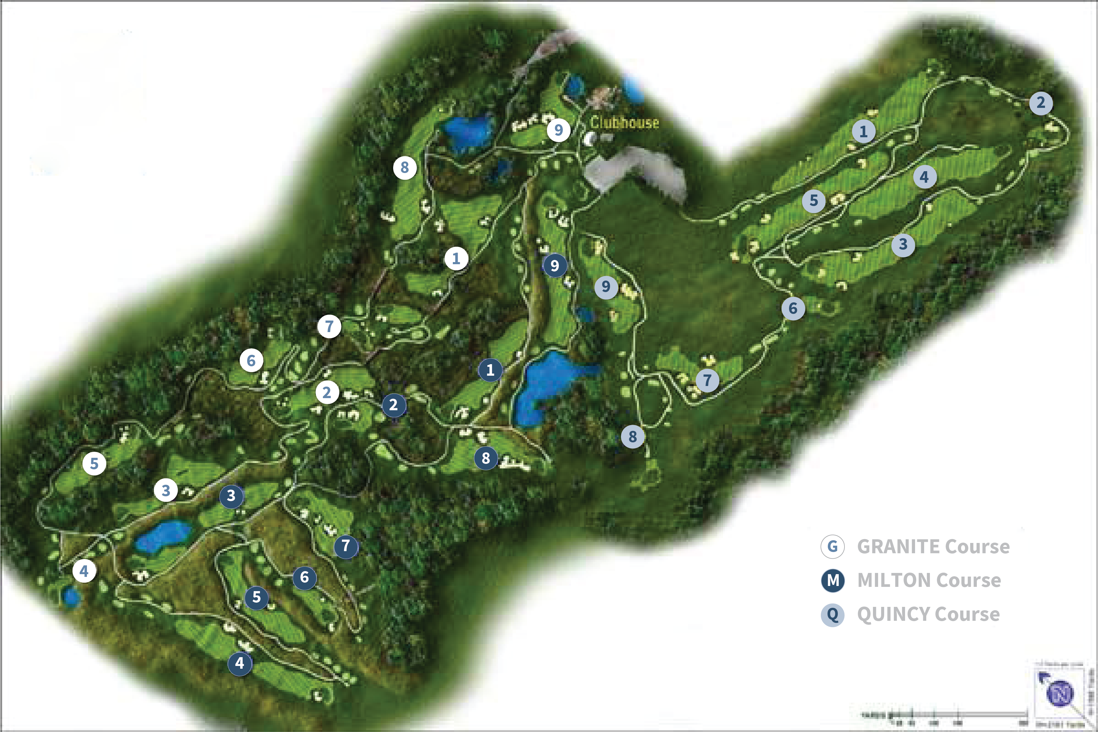 Course Layouts Granite Links Golf Club Quincy Ma